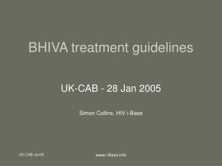 BHIVA treatment guidelines