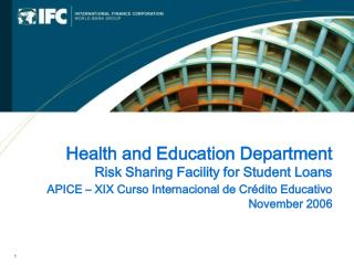 Health and Education Department Risk Sharing Facility for Student Loans