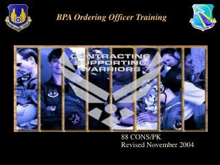 BPA Ordering Officer Training