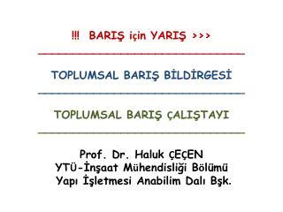 !!!  BARIŞ i ç in YARIŞ  >>>