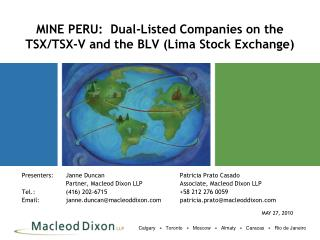MINE PERU:  Dual-Listed Companies on the TSX/TSX-V and the BLV (Lima Stock Exchange)