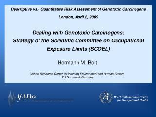 Descriptive vs.- Quantitative Risk Assessment of Genotoxic Carcinogens  London, April 2, 2009