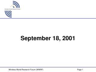 September 18, 2001