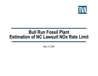 Bull Run Fossil Plant Estimation of NC Lawsuit NOx Rate Limit