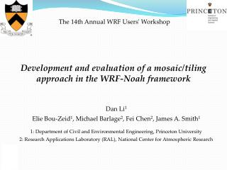 Development and evaluation of a mosaic/tiling approach in the WRF-Noah framework