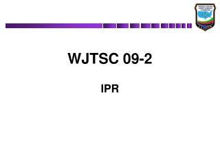 WJTSC 09-2 IPR