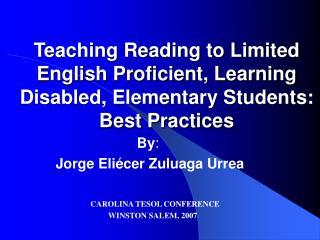 By : Jorge Eliécer Zuluaga Urrea