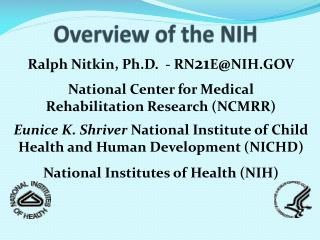 Overview of the NIH