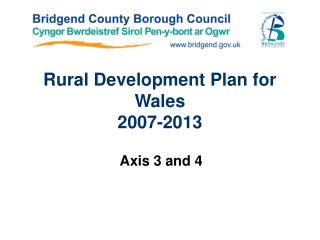 Rural Development Plan for Wales 2007-2013