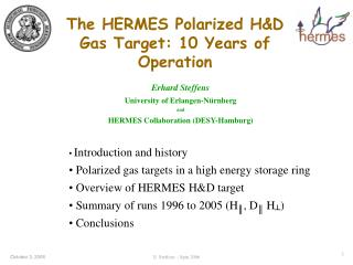 The HERMES Polarized H&D Gas Target: 10 Years of Operation
