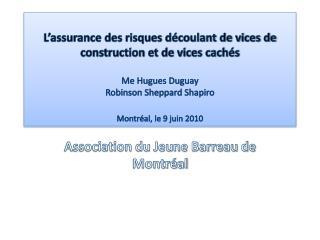 Association du Jeune Barreau de Montréal