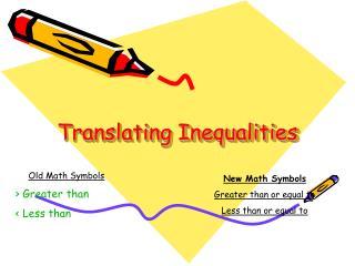Translating Inequalities
