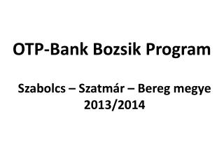 Szabolcs – Szatmár – Bereg megye 2013/2014