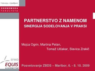Posvetovanje ZBDS – Maribor, 6. - 8. 10. 2009