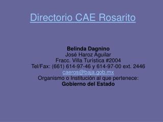 Directorio CAE Rosarito