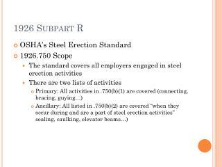 1926 Subpart R