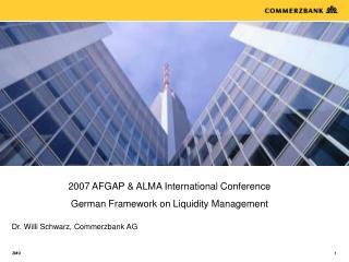Dr. Willi Schwarz, Commerzbank AG