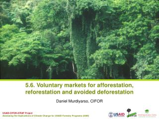 5.6. Voluntary markets for afforestation, reforestation and avoided deforestation
