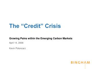 "The ""Credit"" Crisis"