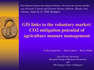 GIS links to the voluntary market: CO2 mitigation potential of agriculture manure management
