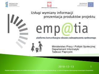 platforma komunikacyjna obszaru zabezpieczenia społecznego