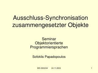 Ausschluss-Synchronisation zusammengesetzter Objekte