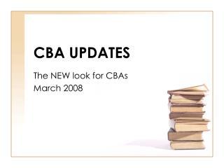 CBA UPDATES