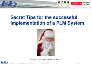 Secret Tips for the successful  Implementation of a PLM System