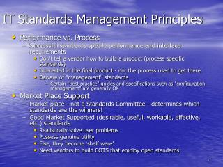 IT Standards Management Principles