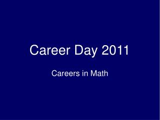 Career Day 2011