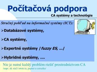Počítačová podpora