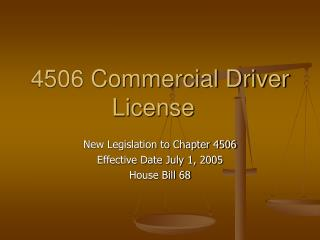 4506 Commercial Driver License