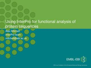Using InterPro for functional analysis of protein sequences
