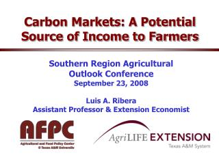Carbon Markets: A Potential Source of Income to Farmers