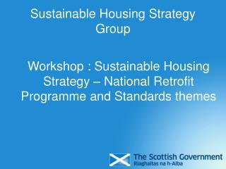 Sustainable Housing Strategy Group
