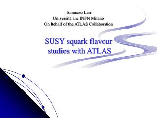 SUSY squark flavour  studies w i th ATLAS