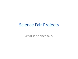 What is a science fair