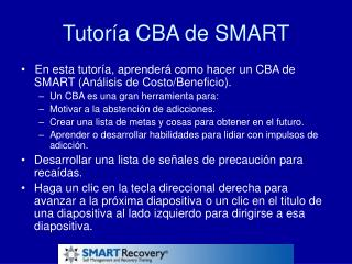 Tutoría CBA de SMART