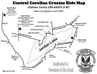 Central Carolina Cruzzzz Ride Map