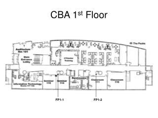 CBA 1 st  Floor