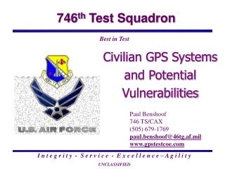 Civilian GPS Systems  and Potential Vulnerabilities