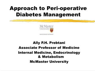 Approach to Peri-operative Diabetes Management