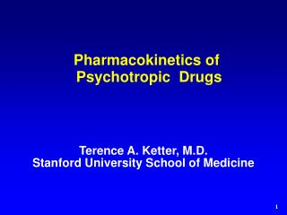 Pharmacokinetics of Psychotropic  Drugs