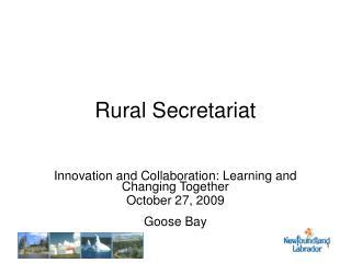 Rural Secretariat