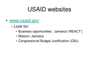 USAID websites