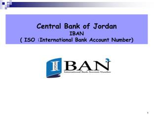 Central Bank of Jordan  IBAN  ( ISO :International Bank Account Number)