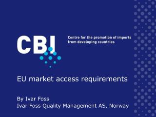 EU market access requirements