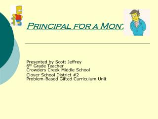 Principal for a Month