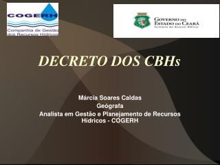 DECRETO DOS CBHs