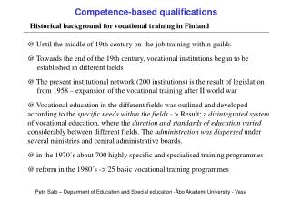 Competence-based qualifications